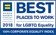 Best places to work for LGBTQ equality 2018 logo